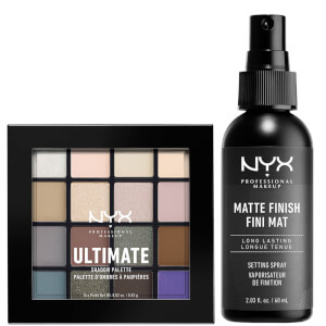 NYX Professional Makeup Ultimate Shadow Palette and Matte Setting Spray Duo (Worth £23.00)
