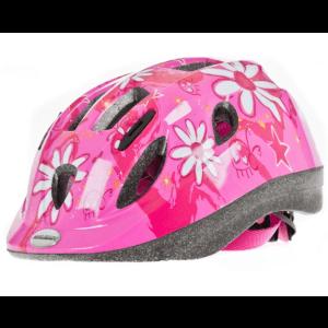 Raleigh Girls Mystery Pink Flower Helmet - Pink