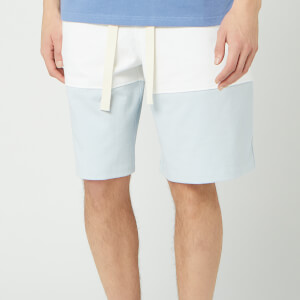 JW Anderson Men's Panelled Rugby Shorts - Glacier Blue