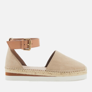 See By Chloé Women's Leather Espadrilles - Beige