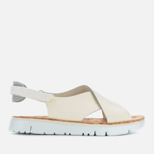 Camper Women's Oruga Cross Front Flat Sandals - Light Beige