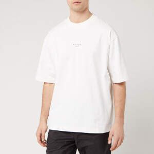 Acne Studios Men's Reverse Logo T-Shirt - Optic White