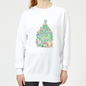 Rosie Brooks Christmas Tree Women's Sweatshirt - White