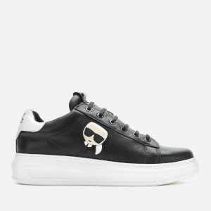 Karl Lagerfeld Men's Kapri Karl Ikonic 3D Lace Leather Trainers - Black