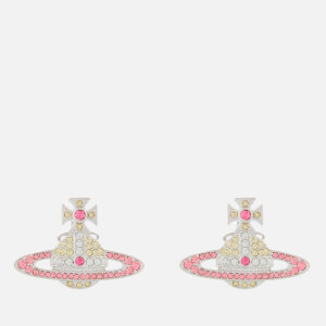 Vivienne Westwood Women's Kika Earrings - Rhodium Jonquil Light Rose Crystal Rose