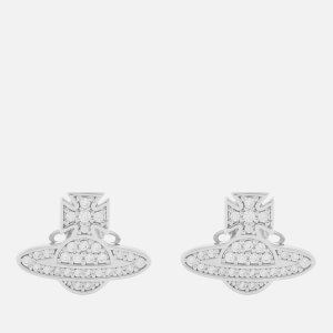 Vivienne Westwood Women's Romina Pave Orb Earrings - Rhodium White