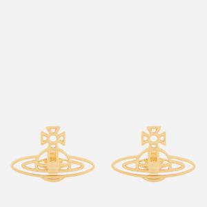 Vivienne Westwood Women's Thin Lines Flat Orb Stud Earrings - Gold