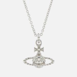 Vivienne Westwood Women's Mayfair Bas Relief Pendant - Rhodium Crystal