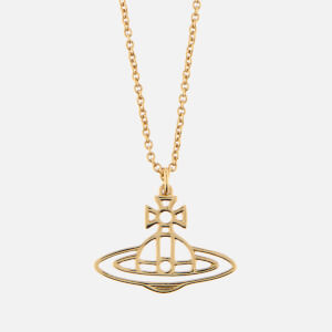Vivienne Westwood Women's Thin Lines Short Flat Orb Pendant - Gold