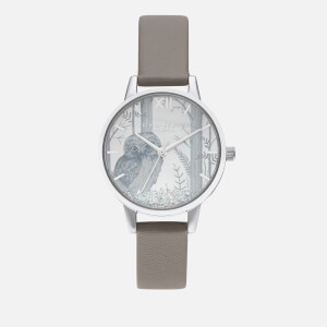 Olivia Burton Women's Snow Globe Sunray Owl Watch - Vegan London Grey/Silver