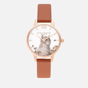 Olivia Burton Women's Illustrated Animals Watch - Vegan Honey/Rose Gold