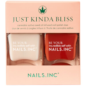 nails inc. Just Kinda Bliss Nail Polish 14ml Duo