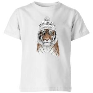 Siberian Tiger Kids' T-Shirt - White