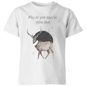 Balazs Solti May All Your Days Be Snow Days Kids' T-Shirt - White
