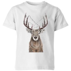 Xmas Deer Kids' T-Shirt - White