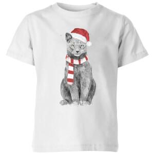 Xmas Cat Kids' T-Shirt - White