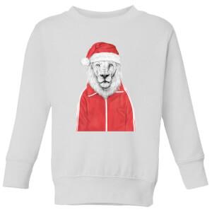 Balazs Solti Santa Lion Kids' Sweatshirt - White