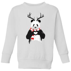 Xmas Panda Kids' Sweatshirt - White