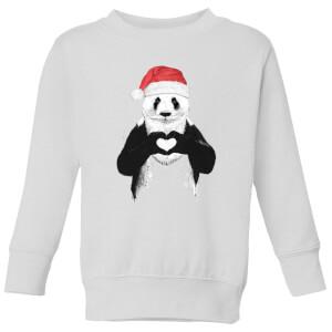 Balazs Solti Santa Panda Kids' Sweatshirt - White