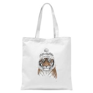 Balazs Solti Siberian Tiger Tote Bag - White
