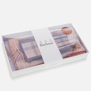 Barbour Heritage Women's Tartan Scarf & Glove Set - Taupe/Pink