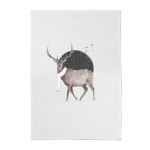 Balazs Solti Winter Is All Around Cotton Tea Towel