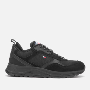 Tommy Hilfiger Men's Fashion Mix Chunky Running Style Trainers - Black
