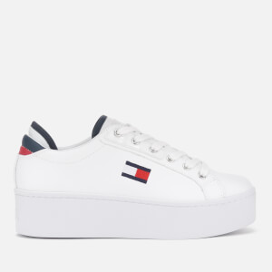 Tommy Jeans Women's Platform Trainers - Red/White/Blue