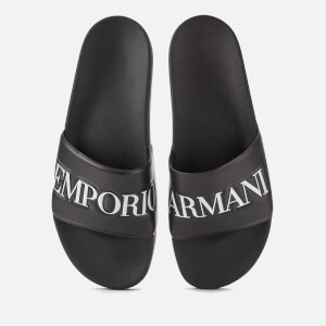 Emporio Armani Men's Slide Sandals - Black/White
