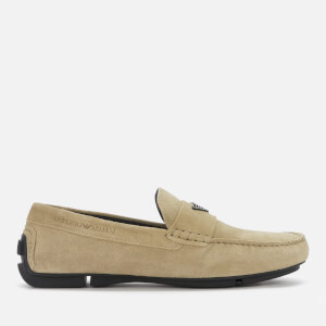 Emporio Armani Men's Suede Driving Shoes - Earth