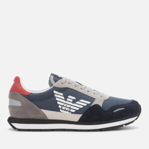 Emporio Armani Men's Running Style Trainers - Navy/White/Plum