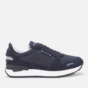 Emporio Armani Men's Suede/Mesh Running Style Trainers - Navy/Midnight