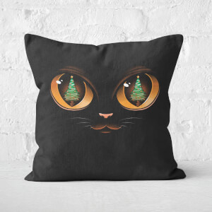 Tobias Fonseca Xmas Cat Attack Square Cushion
