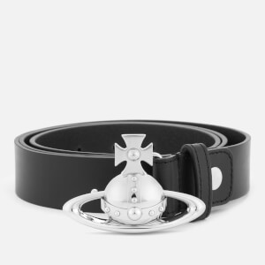 Vivienne Westwood Orb Buckle Palladium Belt - Black