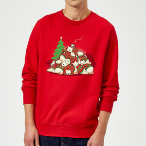 Tobias Fonseca Good Night Xmas Bear Sweatshirt - Red