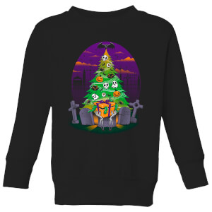Tobias Fonseca Halloween Is My Xmas Kids' Sweatshirt - Black