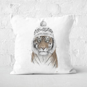 Siberian Tiger Square Cushion