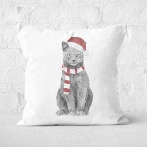 Xmas Cat Square Cushion