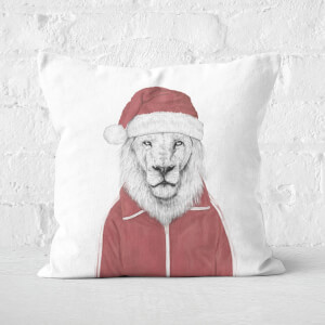 Santa Lion Square Cushion
