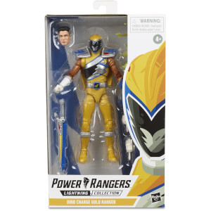 Hasbro Power Rangers Lightning Collection Dino Charge Gold Ranger 6 Inch Action Figure