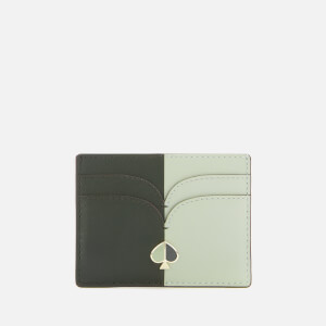 Kate Spade New York Women's Nicola Bicolor Card Holder - Evergreen