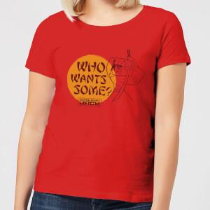 Samurai Jack Who Wants Some Women's T-Shirt - Red