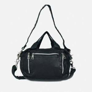 Núnoo Women's Donna Washed Leather Shoulder Bag - Black