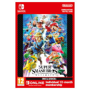 Super Smash Bros. Ultimate + Nintendo Switch Online 12 Months (Individual) - Digital Download