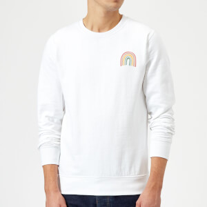 Hand Drawn Rainbow Sweatshirt - White
