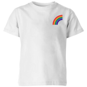 Half Rainbow Kids' T-Shirt - White