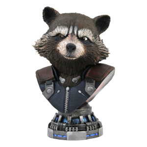 Diamond Select Marvel Legends In 3D Avengers: Infinity War Rocket Raccoon 1/2 Scale Bust Statue