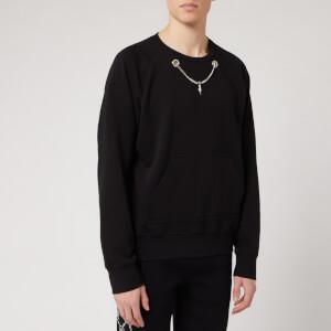 Neil Barrett Men's Chain Detail Sweatshirt - Black