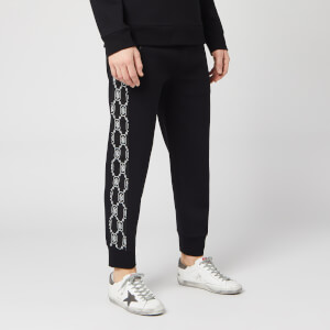 Neil Barrett Men's Monogram Stripe Sweatpants - Black/White