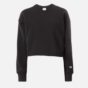 Champion Women's Cropped Crew Neck Sweatshirt - Black